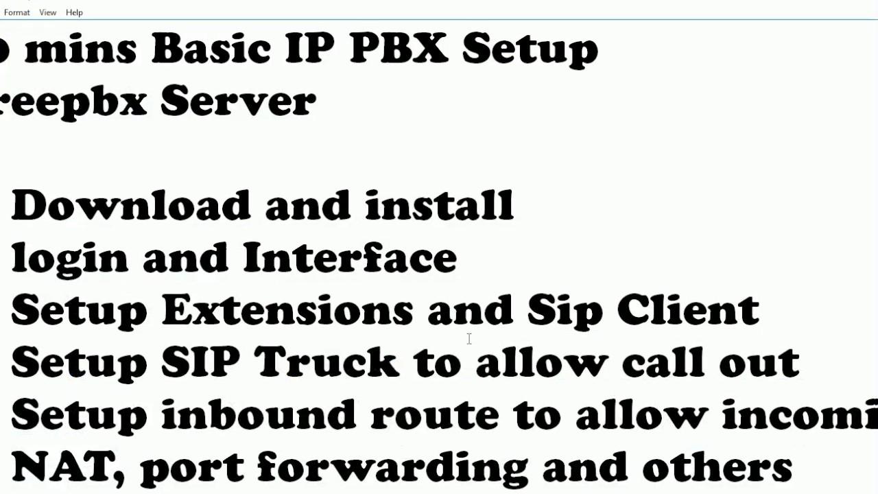 20 mins learn to Setup a IP PBX system on FreePBX server 13