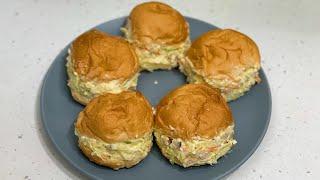 사라다빵/아침을 든든하게 감자계란 모닝빵  샌드위치 만…
