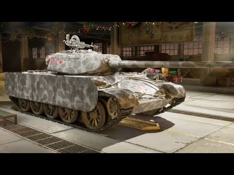 WOT Volk T-44-100 Christmas Garage Showcase World of Tanks Console