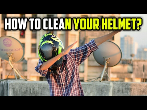 How To Clean/Wash Dirty Motorcycle Helmet? Guide Best Way (Hindi) MT Axxis Falcon