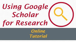 Using Google Scholar for Research