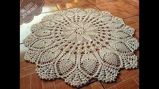 Toalha de mesa Fiore em crochê – Passo a passo completo