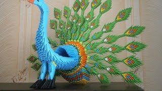 Модульное Оригами.  3D Павлин. Мастер Класс!