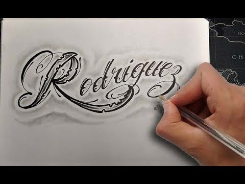 Diseño Chicano Lettering Rodriguez Time Lapse Lettering Nosfe