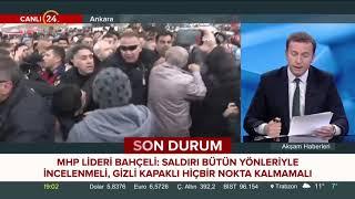 Devlet Bahçeli Kılıçdaroğlu na yönelik saldırı kabul edilmezdir