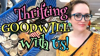 Thrifting At Goodwill For Profit | Thrift With Us | Looking For Vintage To Resell On Etsy!
