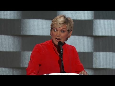 Former governor of Michigan Jennifer Granholm speaks at the Democratic National Convention