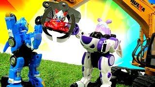 Игрушки трансформеры из мультика Монкарт (Monkart). Видео для мальчиков: машинки и гонки