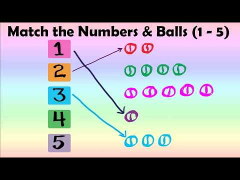 Kids Numbers & Shapes - Match Numbers and Balls 1 - 5 (Best Kids Learning Videos)
