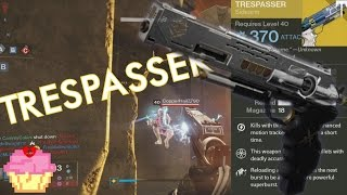 Trespasser 42 Kill Game | Review ramble | Destiny Rise of Iron