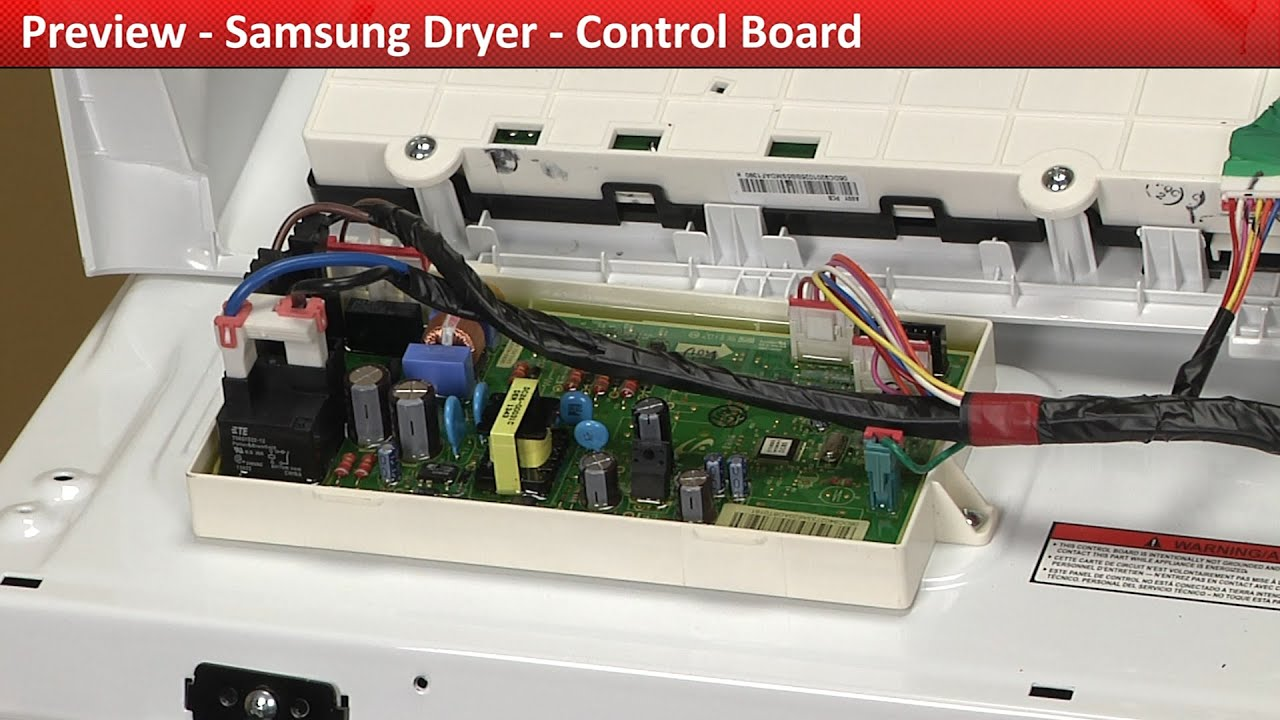 Control Board Dv422ewhdwr Samsung Dryer Youtube Whirlpool Duet Washer Wiring Diagram
