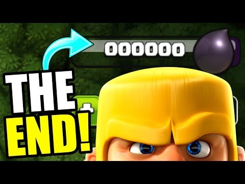 THE END OF DARK ELIXIR..............Clash Of Clans