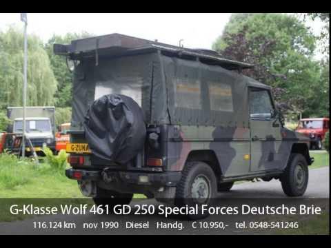 mercedes-benz g-klasse wolf 461 gd 250 special forces deutsche brief