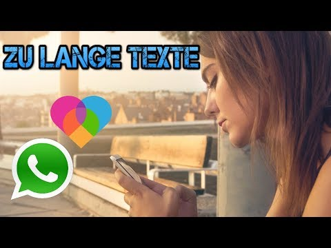 WhatsApp & LOVOO ERROR   Too long texts   Why you do not get an answer anymore!
