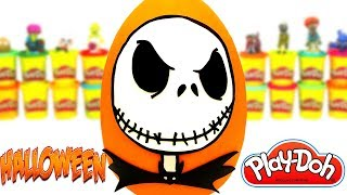 Huevo Sorpresa Gigante de Halloween Jack Skeleton en Español de Plastilina Play Doh