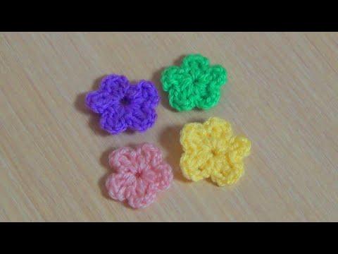 Как связать маленькие цветочки крючком видео