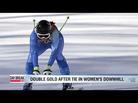 Women's downhill sees first double gold
