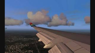 FS2004 SOUTH AFRICAN AIRWAYS B744 LANDINIG IN MIAMI (also in HD)