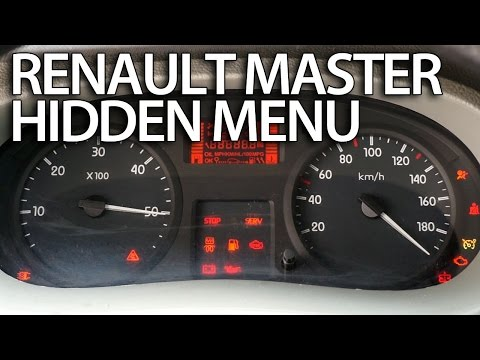 How to enter hidden menu in Renault Master (service test mode)