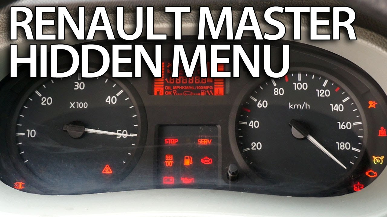 How to enter hidden menu in Renault Master (service test mode)  YouTube