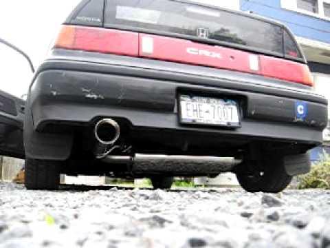 honda crx tanabe medallion touring exhaust - youtube 1989 honda civic crx header
