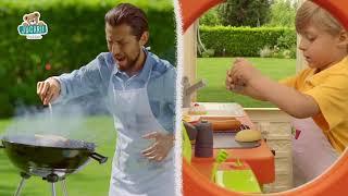 Set căsuță cu restaurant de grădină Chef House DeL