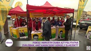 Fidesz: Horváth Csaba azt folytatná Zuglóban, amit Karácsony Gergely elkezdett