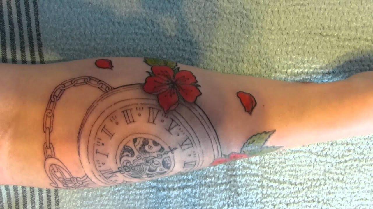 1 re s ance de tatouage pour oph lie montre et fleurs de cerisier by syltattoo youtube. Black Bedroom Furniture Sets. Home Design Ideas