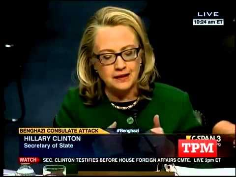 Hillary Clinton Benghazi Testimony Erupts at Ron Johnson - 1/23/13