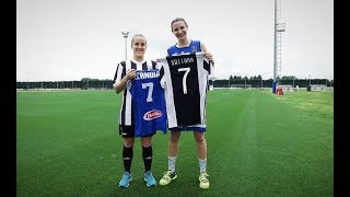 Football vs Basketball: Juventus Women's Cernoia meets Italy's Sottana