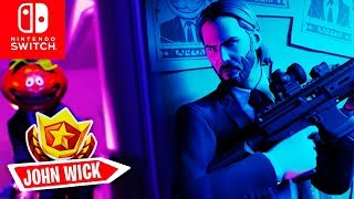 🔴 JOHN WICK Skin, Wicks Bounty + ALL Challenges | Fortnite Switch