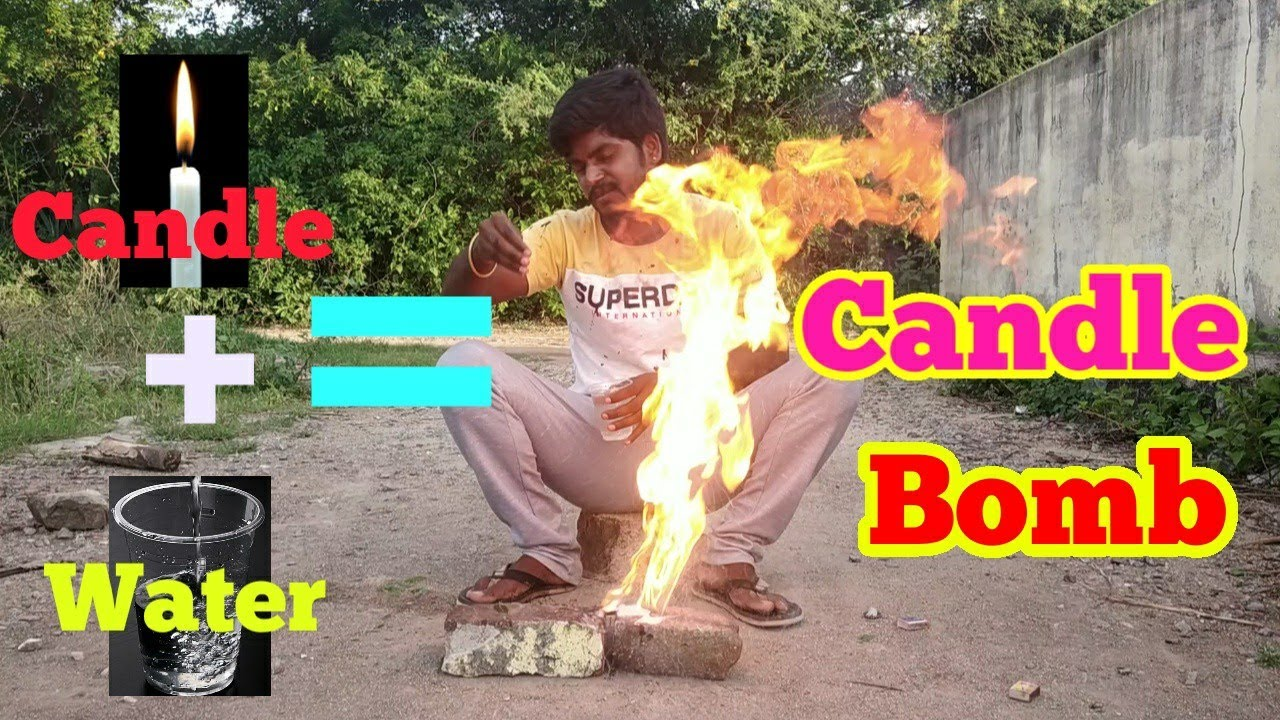 candle bomb | Candle wax water explanation | Creativity Experimental