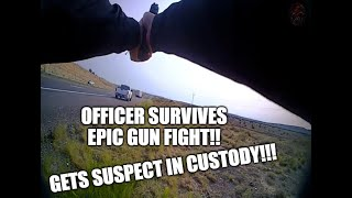 Full Lapel footage: Officer Gets Shot and Does Not Quit to Apprehend Suspect!!!