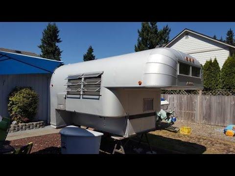 1966 Avion C 10 Vintage Aluminum Truck Camper Youtube