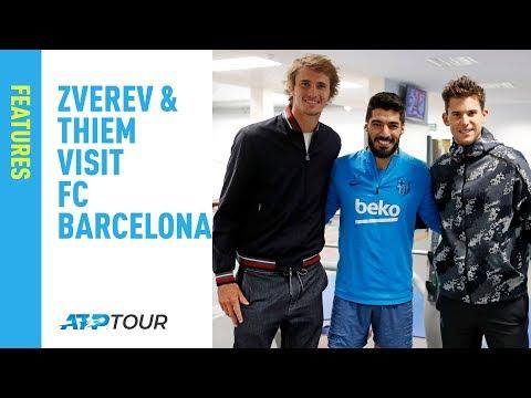 WATCH: Zverev, Thiem meet FC Barcelona