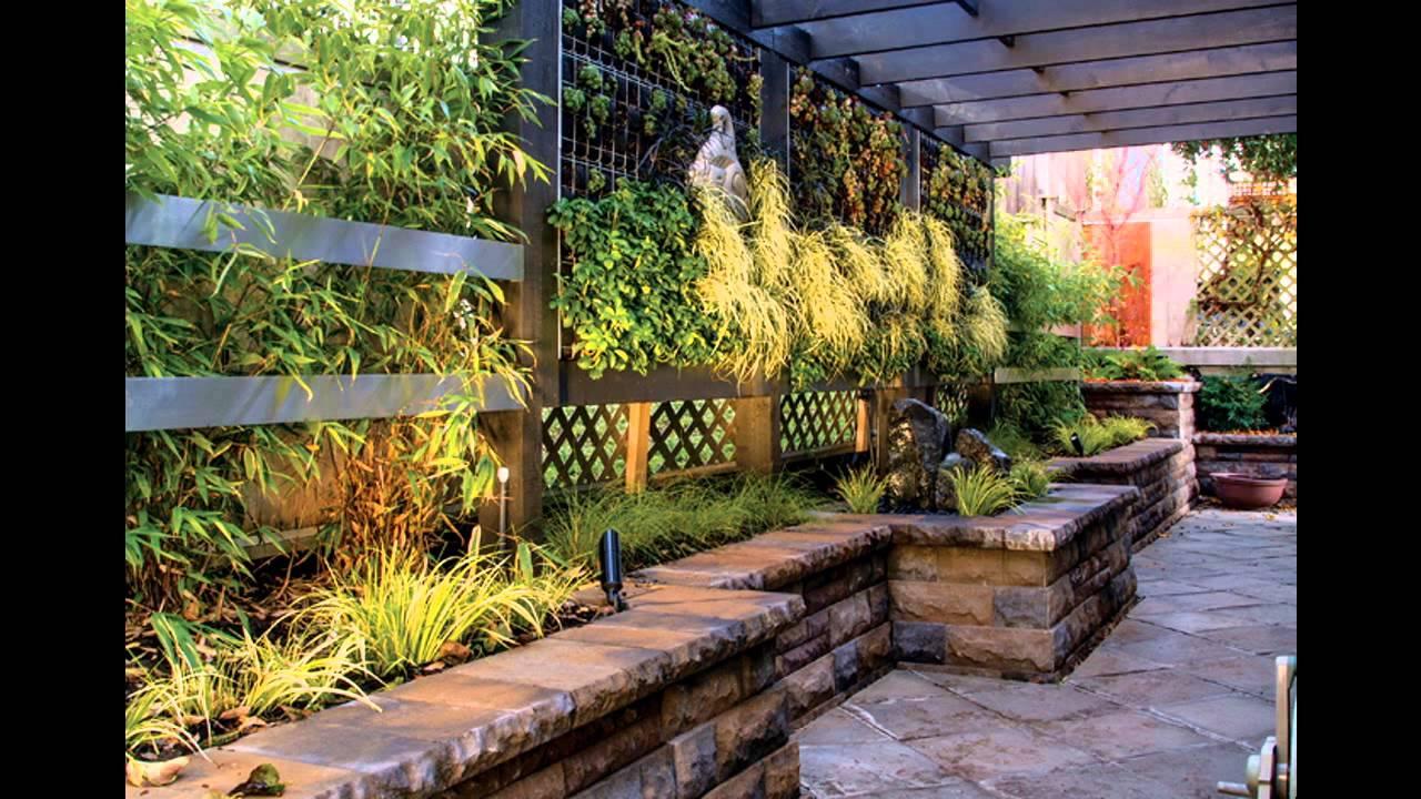 Small garden wall ideas youtube for Small walled garden ideas