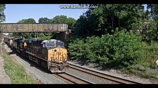 CSX and Norfolk Southern in The Morning at Shenandoah Junction, WV Railcam