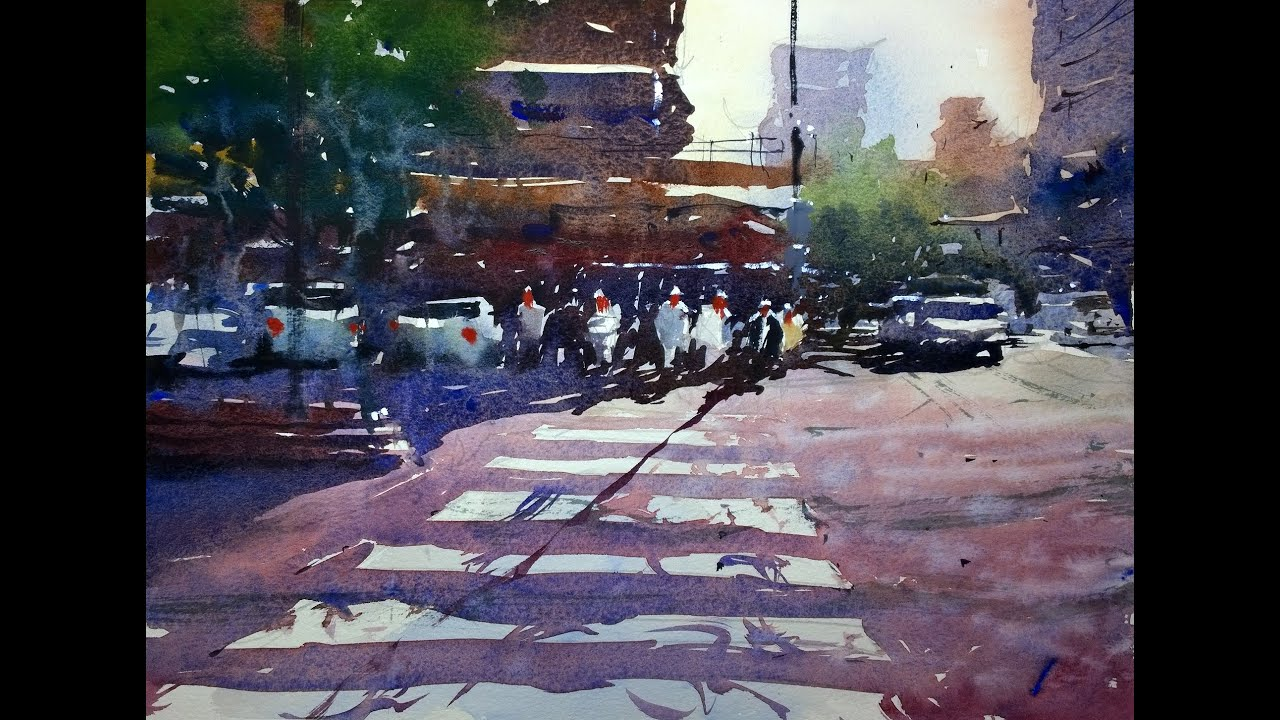 Watercolour Demonstration By Tim Wilmot Urban Scene With
