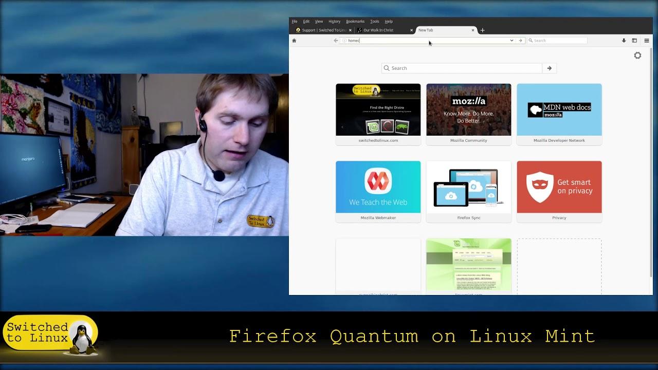 Firefox Quantum on Linux Mint