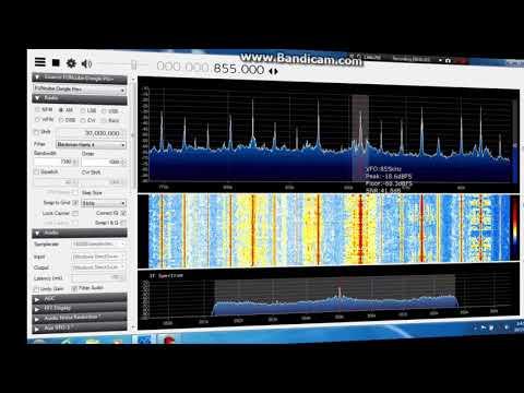 MW test Funcube Dongle Pro plus and Tecsun AN200 loop antenna