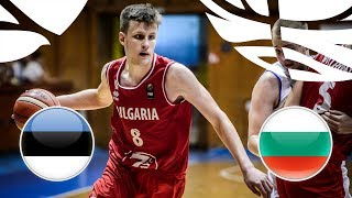 Estonia v Bulgaria - Full Game - FIBA U20 European Championship Division B 2018