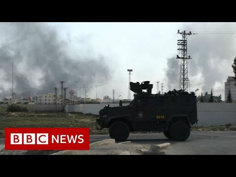 Turkish forces clash with Kurdish fighters in Syria - BBC News