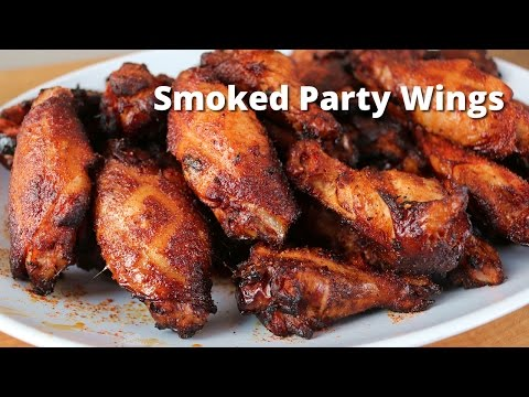 Smoked Party Wings Recipe | Smoked Hot Wings On Ole Hickory Smoker