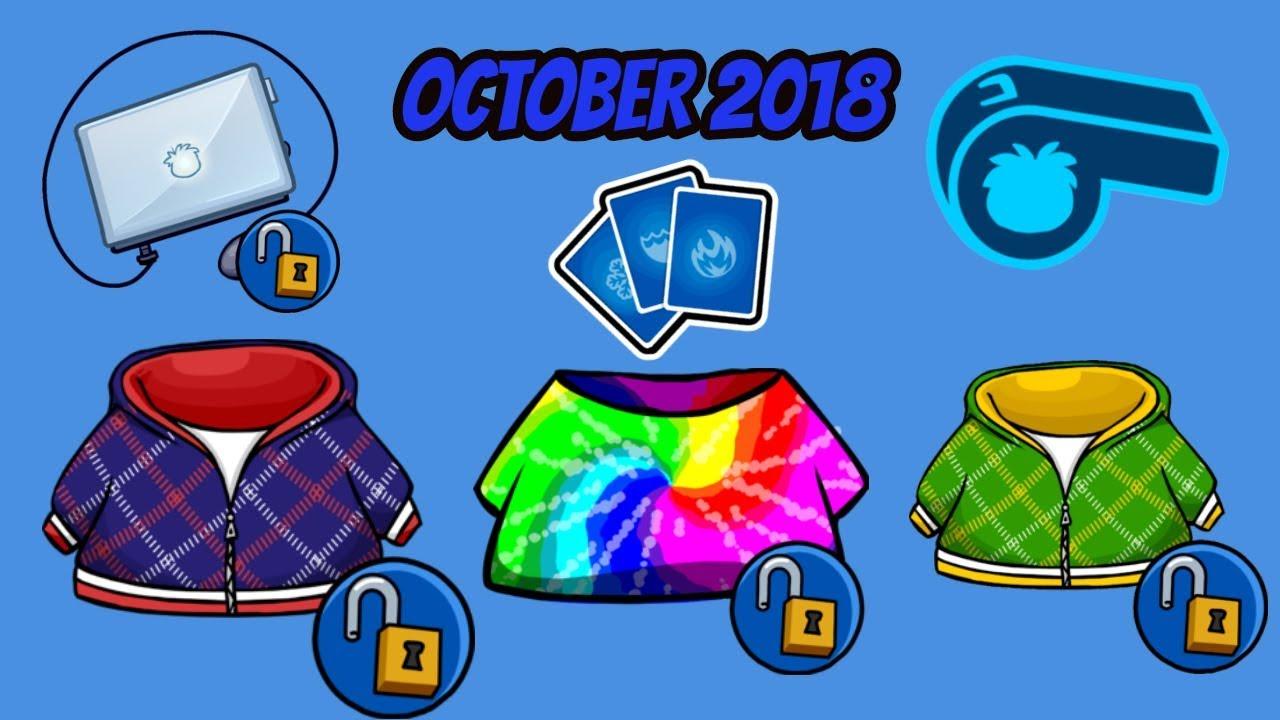 Club Penguin Rewritten-October 2018- ALL Unlockable Codes