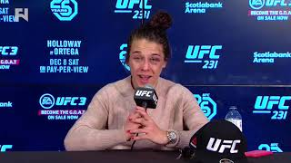 UFC 231: Joanna Jedrzejczyk Post-Fight Press Conference - This Sport, You Don't Take Second Place