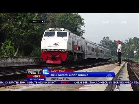 Jalur Kereta Api yang Tertimbun Longsor Sudah Dibuka Kembali - NET12 image