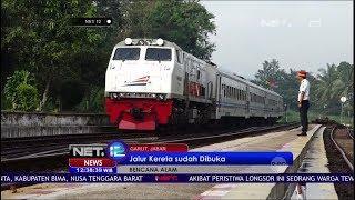 Jalur Kereta Api yang Tertimbun Longsor Sudah Dibuka Kembali - NET12