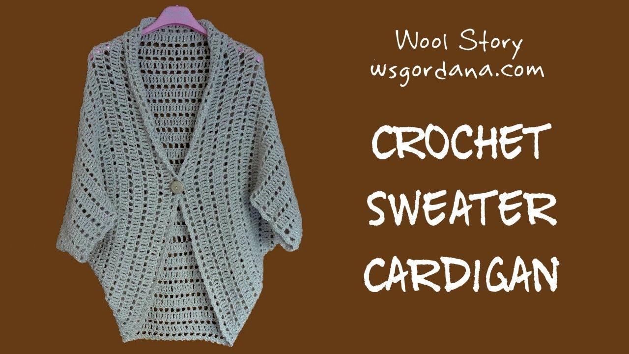 Diy Tutorial Crochet Sweater Cardigan Heklani Kardigan