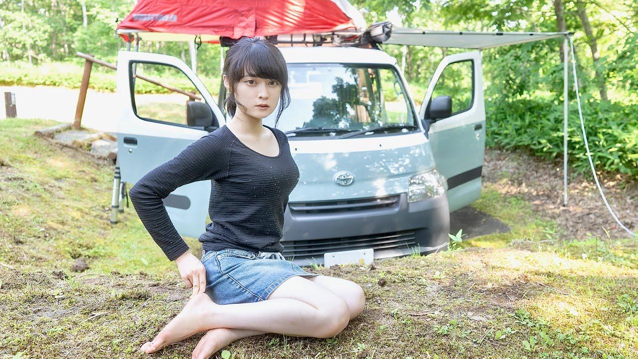 1万円の車が500万円のバンに変わって驚く貧困女子の車中泊 りんの田舎暮らし Rin Japanese country life Hokkaido 4K R-in 27
