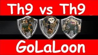 Clash Of Clans - My GoLaLoon Attack vs Noble Nines - 3 Stars vs Maxed Defenses Th9